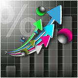 Pfeile 3d und Diagramm Lizenzfreie Abbildung