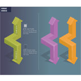 Pfeile 3D Lizenzfreie Stockfotos