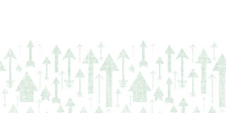 Pfeile, die herauf Textilstrukturiertes horizontales fliegen Lizenzfreie Stockfotografie
