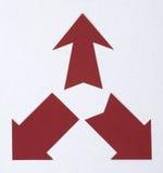 Pfeile geschnitten vom Papier Lizenzfreie Stockfotos