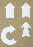 Pfeile geschnitten vom Papier Lizenzfreie Stockbilder