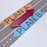 Pfeile mit Plan B des Planes A Stockbilder