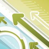 Pfeile - techno Hintergrund Stockbilder