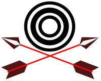 Pfeile und Ziel Stockbild