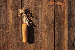 Pfeiler gehangen an eine Holztür Lizenzfreies Stockfoto