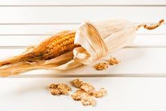 Pfeiler mit Corn-Flakes Lizenzfreie Stockfotografie
