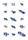 Pfeilikonen des Vektor 3d Stockfotografie