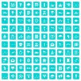 100 Pfeilikonen stellten Schmutz blau ein Lizenzfreies Stockfoto