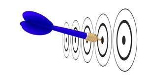 Pfeilpfeilziel-Zielreichweite Stock Abbildung