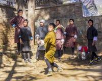 Pfeilspieler in Bhutan Lizenzfreie Stockfotos