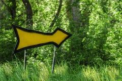 Pfeilspitze im Wald Lizenzfreies Stockfoto