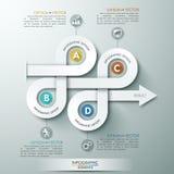 Pfeiltreppenhausdiagrammgeschäfts-Schrittwahlen lizenzfreie abbildung