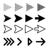 Pfeilvektorsammlung mit eleganter Art und schwarzer Farbe lizenzfreie abbildung