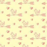 Pfeilvogel-Musterliebe handgemalt Stockfoto