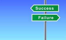 Pfeilzeichen der Erfolgsstörung. Stockbilder