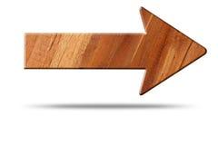 Pfeilzeichen des Holzes Stockfoto