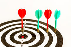 Pfeilziel, Geschäftskonzept des zielgruppenorientierten Marketings Erfolgs- oder Zielsymbol Stockbild