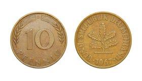 Pfennig della Germania 10 Immagini Stock