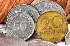 Pfennig Deutsche Mark Bundesrepubik Deutschland Royalty Free Stock Photos