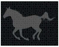 Pferd auf dem Puzzlespiel Lizenzfreie Stockfotos