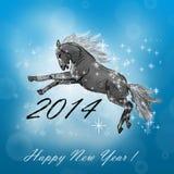 Pferd auf Weihnachtskarte. Stockfoto