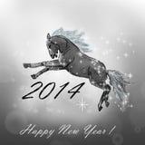 Pferd auf Weihnachtskarte. Lizenzfreie Stockfotos