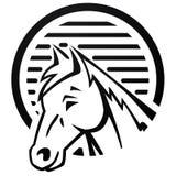 Pferd am Bauernhofzeichen Stockbilder