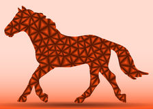 Pferd der Dreiecke auf dem Lauf Stockfoto