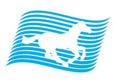 Pferd in der Markierungsfahne Lizenzfreies Stockbild