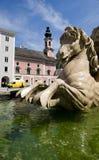 Pferd des Wohnsitz-Brunnens in Salzburg Lizenzfreie Stockfotografie