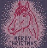 Pferd. Frohe Weihnachten Lizenzfreie Stockfotos