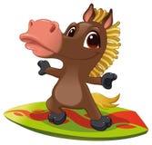 Pferd mit Brandung. Lizenzfreies Stockbild