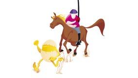 Pferd mit Ei Lizenzfreie Stockbilder