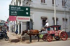 Pferd mit Lastwagen lizenzfreie stockbilder