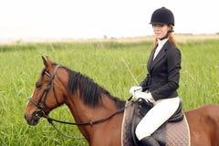 Pferd mit Reiter Stockfotos