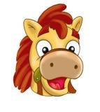Pferd, Pony Maske, Karneval, die Ereignisse der Kinder, Karikatur stock abbildung