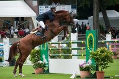 Pferd-springendes großartiges Prix Bratislava CSIO-W *** 2010 Lizenzfreies Stockfoto
