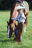 Pferd u. Cowboy Lizenzfreie Stockfotos