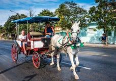 Pferd und Buggy Hicacos Lizenzfreies Stockfoto