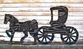 Pferd und Buggy Silhouette-0060 Lizenzfreie Stockfotografie