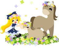 Pferd- und Leute ~Matching corolla~ Stockbilder