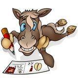 Pferd und Postkarte Stockbilder