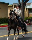Pferd und Reiter im kompletten Einklang Lizenzfreies Stockbild