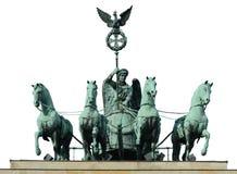 Pferd vier auf Brandenburger Tor Lizenzfreie Stockbilder