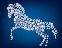 Pferd von Diamanten Stockfotos