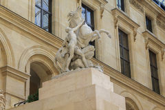 Pferd von mergeligem am Louvre Stockfotos