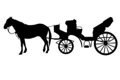 Pferd-wagen Sie stockfotografie