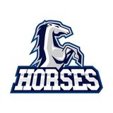 Pferde Logo Template Lizenzfreie Stockfotografie