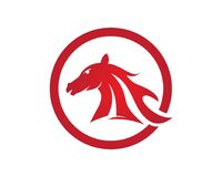 Pferde-Logo Template Vector-Symbol Lizenzfreie Stockfotografie