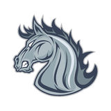 Pferde- oder Mustanghauptmaskottchen vektor abbildung